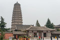 SHAANXI, CHINA - OCT 27 2014: Famen Temple. a famous Temple in F Royalty Free Stock Photo