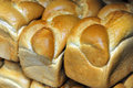Shabbat challah rolls bread on display in a bakery shop Royalty Free Stock Photo