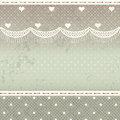 Shabby chic background place for text with lace Stock Photography