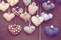 Shabby chic hearts Royalty Free Stock Photo
