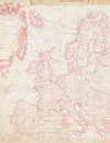 Shabby Chic map of Europe in Pink Royalty Free Stock Photo