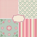 Shabby chic rose patterns and seamless backgrounds ideal for printing onto fabric and paper or scrap booking Stock Photography