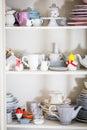Shabby chic style dishware Royalty Free Stock Photo