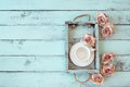 Shabby chic tray Royalty Free Stock Photo