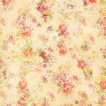 Shabby Chic Vintage Antique Rose Floral Wallpaper Royalty Free Stock Photo