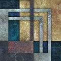 Shabby colored geometrical pattern on dark background