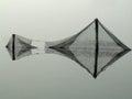 Shabby fishing nets Royalty Free Stock Photo