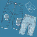 Shabby jeans Stock Photos
