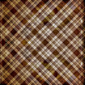 Shabby plaid in brown stripes Royalty Free Stock Image