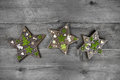 Shabby and vintage apple green and grey wooden christmas decorat