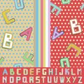 Shabey alphabet background colorful pattern for kids Royalty Free Stock Photo