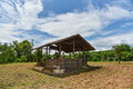 Shack at agriculture blue sky Stock Photography