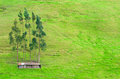 Shack on a hill small farm the side of Royalty Free Stock Photos