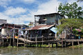 Shack home in can tho mekong delta vietnam feb typical along the people from the slum area are living poverty with a low standard Royalty Free Stock Image