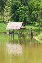 Shack on a water Stock Image