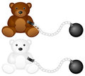 Shackles with teddy bear Royalty Free Stock Photo
