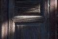 Shade and shadow of retro wooden door. Royalty Free Stock Photo