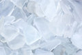 Shaded Clear Fragments of Beach Glass Royalty Free Stock Photo
