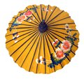 Shaded from Hot Sun Asian Rice Paper Sun Parasol Royalty Free Stock Photo