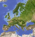 Shaded relief map of Europe Royalty Free Stock Images