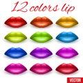Shades of Beautiful luscious multicolor lips.