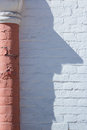 Shadow as human face silhouette unusual column Stock Image
