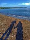 Tieň podľa pláž potiahnuté môj manželka