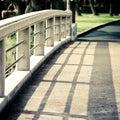 Shadow on the bridge Royalty Free Stock Photo