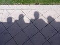 Shadow caricature of people