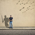 Shadow knight Royalty Free Stock Photo