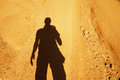 Shadow man Royalty Free Stock Photo
