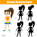 Shadow matching game. Find the right shadow