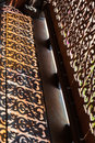 Shadow of sculpture of wooden bannister the in thailand Stock Photos