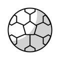 Shadow soccer ball cartoon
