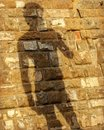 A shadow of the Statue of David in Florence - Italy - ITALIA - FIRENZE Royalty Free Stock Photo