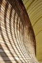 Shadows on arc wall Royalty Free Stock Photo