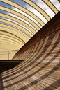Shadows on arc wall Stock Photography