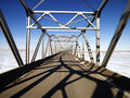 Shadows on bridge. Stock Photo