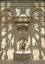 Shadows on fountain.  Dolmabahce Palace, Istanbul, Turkey. Stock Image