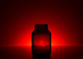 Shadows glass bottle. Royalty Free Stock Photo