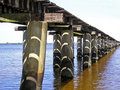 Shadows on Pilings Royalty Free Stock Images