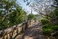 Shady walkway Royalty Free Stock Photography