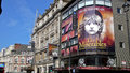 Shaftesbury avenue london united kingdom july view from of the queen s theater during the run of les miserables Stock Photo