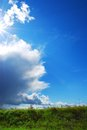 Shafts of sunlight background with clouded and azure heaven Royalty Free Stock Image