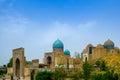 Shah i zinda memorial complex necropolis in samarkand uzbekistan unesco world heritage Royalty Free Stock Image