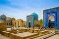 Shah-I-Zinda memorial complex, necropolis in Samarkand, Uzbekistan. Royalty Free Stock Photo