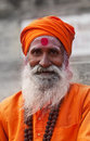 Shaiva sadhu in Varanasi Royalty Free Stock Photo