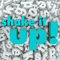 Shake it up words letter background reorganization new idea the on a of letters to illustrate thinking differently and creating a Royalty Free Stock Photos