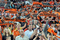 Shakhtar fans welcome their team players Royalty Free Stock Photos
