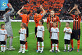 Shakhtar team players applaud fans Stock Photography